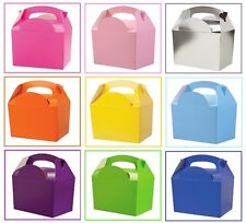15 Assorted Plain Coloured Childrens Picnic Meal Food Birthday Party Bag Boxes