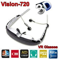 68 inch Wide Screen HD 1080P 3D Stereo Virtual Video Glasses Eyewear Theater 8GB