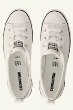 Women's Leather Converse Shoes - Ballet Style White RRP $90-$100