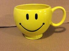 Teleflora Smiley Face Coffee Mug Yellow Oversized Smiling Emoji