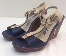 Elizabeth Wedge Size 9 US Women Navy Domen Footwear NEW Leather Sailor