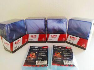 CARD CONCEPT TOP LOADERS CARD SLEEVES 100 TOPLOADERS& 200 ULTRA PRO CARD SLEEVES