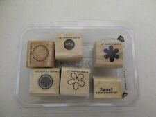 Stampin' Up! SWEET SPOT Set/6 Wood Mounted Rubber Stamps-NEW