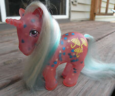 Vintage 1980's My Little Pony Glow-N-Show Dazzleglow BLUE HEART variant unicorn