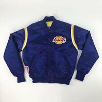 VTG NBA LA Los Angeles Lakers Quilted Starter Satin Jacket Adult Large