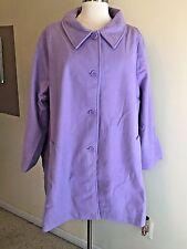 NIP WOMAN WITHIN Plus Size 34W A-Line Lined Lavender Purple Wool Blend Coat