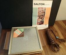 Vintage Salton Hotray Electric Automatic Food Warmer Hot Tray Model H-100
