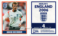 "RARE !! Sticker DAVID BECKHAM ""ENGLAND 2006"" Panini"