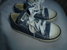 Boys Converse pumps shoes size 9 toddler All Star blue Denim laces casual look