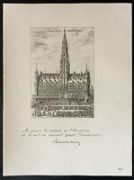 1926 - Litografia citazione Mr il borgomastro Max. Bruxelles