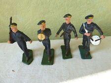 Lot de 4 Soldats STARLUX Plastique Béret Bleu Bande Jaune