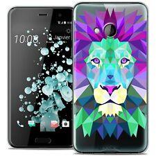 Coque Housse Etui Pour HTC U Play Polygon Animal Souple Fin Lion