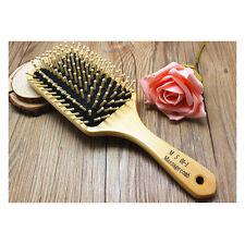 Wooden Natural Bamboo Hair Vent Brush Keratin Care Massager Wood Massage Comb
