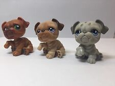 lps littlest pet shop Lot of 3 rare great deal #508 #1342 #180 bull dogs puppies