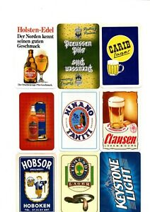 """9 x OLD & NEW """"World Beers/Breweries"""" SINGLE Playing Cards #a"""