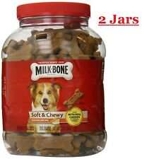 Milk Bone Soft and Chewy Dog Treats Snacks Chicken Recipe 37oz ~ 2 Jars