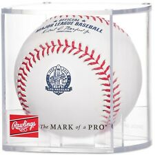 Los Angeles Dodgers 60th Anniversary Commemorative MLB Official Baseball in Cube