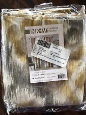 "Ankara Single Curtain Panel Ink-Ivy Yellow L 95"" W 50"" Nip"
