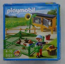 Playmobil 5123 Country Farm Rabbit Pens New (Box Damaged)