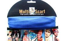 Multi Purpose Magic Scarf Sport Head Band Neck Scarf Head Wear  Royal Blue