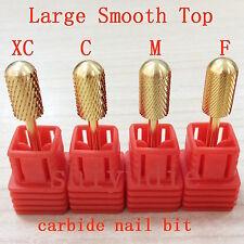 4pcs new gold Smooth Top Bit electric nail file carbide drill bit tools-shiyudie