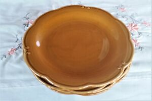 Bombay Brown Salad Plates 8 Inches Set of 4 in Excellent Condition.