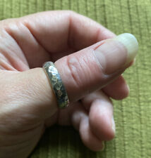 Vintage Silver Tone Hammerd Thumb Ring