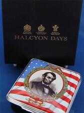HALCYON DAYS PRESIDENT US ABRAHAM LINCOLN TRINKET BOX 150 year Anniversary NEW