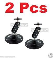 ( 2 Pcs ) Black Tone Security CCTV CCD Camera Wall Mount Bracket Metal Stand