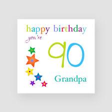 Personalised Handmade 90th Birthday Card - For Him, Dad, Uncle, Grandad, Stars