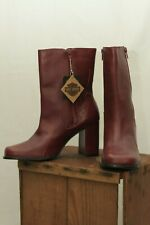 Harley-Davidson motorcycle women's red leather flame boots size 10 new with tags