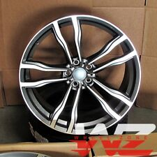 """20"""" 612 Style Staggered Wheels fits BMW X5 X6 X5M X6M Machined Face/Gunmetal"""