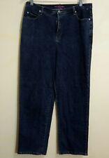 Liz & Me Signature Jeans Women Size 16 Dark Wash Classic Rise