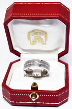 Cartier Tank Francaise 18K White Gold & Diamond Ring & Box Size 53