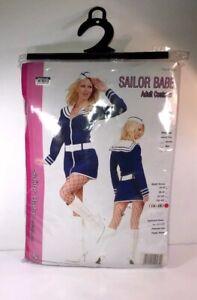 Sailor Babe Navy Nautical Halloween Costume Nautical Dress  Adult XL 16-18