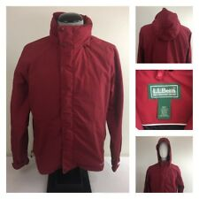 LL Bean Mens M Regular Weather Channel Jacket Full Zip Snap Button Hooded Coat