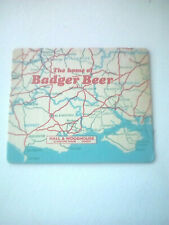 Vintage HALL & WOODHOUSE  / BADGER BEER  -  Cat No'35   Beermat / Coaster