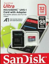 SanDisk Ultra 32 GB Micro SD SDHC Memory Card 98MB Class 10 With SD Adapter