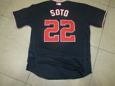 New!!! Washington Nationals Juan Soto #22 STITCHED Blue Baseball Jersey Medium
