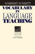 Vocabulary in Language Teaching, Paperback by Schmitt, Norbert, Like New Used...