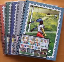 ALL 5 FIFA WORLD CUP STAMP ALBUM WITH 250 SOCCER STAMPS