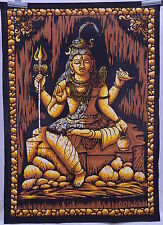 Indian Cotton Lord Shiva Good Luck Mandala Tapestry Wall Hanging Hippie Drom Art