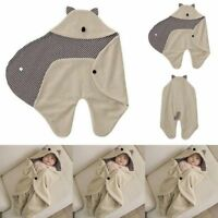 0-8Month Infant Baby Swaddle Warm Blanket Hooded Wrap Sleeping Bag Stroller Wrap