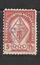 3461-SELLO ANTIGUO  FISCAL CORPORATIVO SOCIEDAD DEPORTIVA MILITAR DE BURGOS.5 P