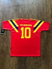 "Colombia Men's Retro Soccer Jersey ""RED"", WC 1990, Valderrama #10 ""Replica"""