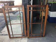 gorgeous pair vintage quartersawn oak mission style cabinet doors 48.5� x 27.5�