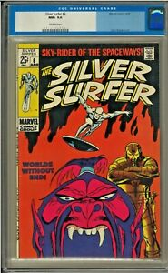 SILVER SURFER #6 CGC 9.6 OW PAGES John Buscema