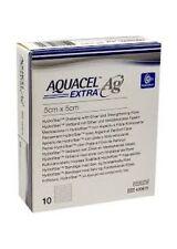 Aquacel AG Extra Silver Hydrofiber Wound Dressing 5cm x 5cm (x10) 420671