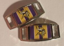 Lot Of 2 Minnesota Vikings Shoelace Charms For Paracord Projects NFL FOOTBALL