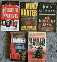TRUE CRIME PAPERBACK 5 BOOK LOT NON FICTION MURDER SERIAL KILLER